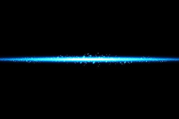 孤立した青い効果、レンズフレア、爆発、キラキラ、ライン、太陽の閃光、火花、星を輝かせます。