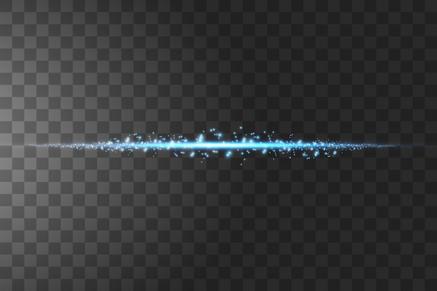 孤立した青い透明効果、レンズフレア、爆発、輝き、線、太陽の閃光、火花、星を輝きます。