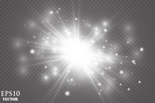 Эффект свечения. сверкающая пыль. взорвать звезду. флэш-концепция.