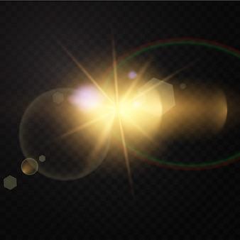 광선 효과. 삽화. 크리스마스 플래시. 먼지. 떨어지는 눈. 장식.