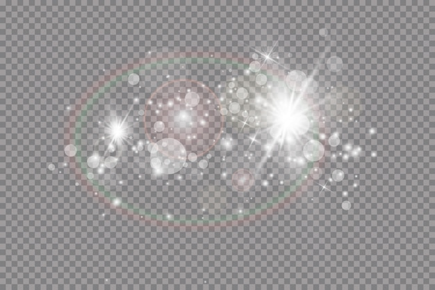 Glow light effect.  illustration. christmas flash. dust.falling snow . decoration.