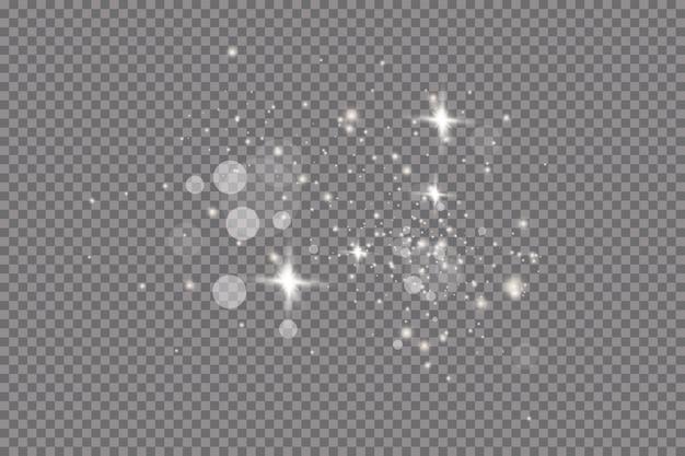 Glow light effect.  illustration. christmas flash. dust.falling snow . decoration.