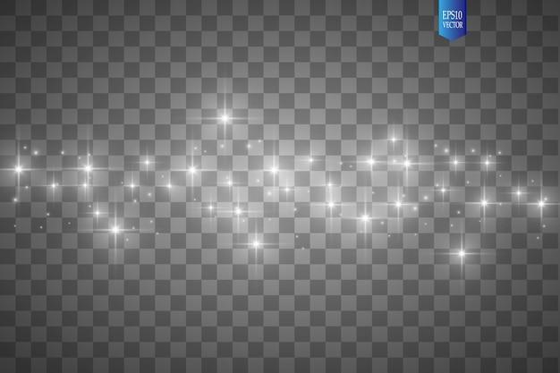 透明な背景にグローライト効果