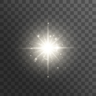 Glow light effect. star burst with sparkles. bright star.