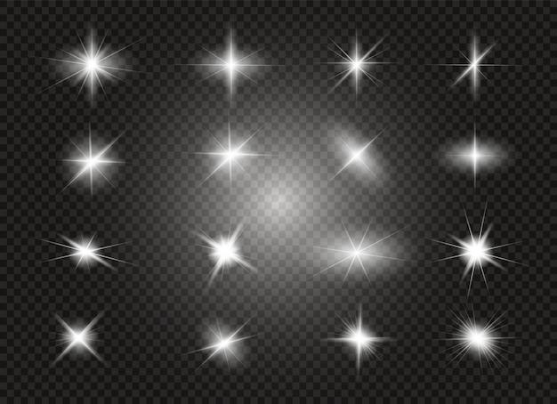 Glow light effect. star burst with sparkles.  illustration.