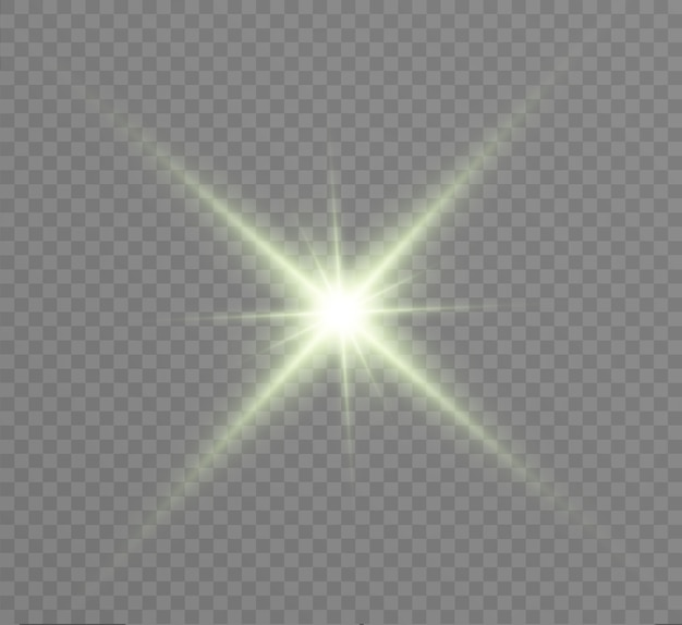 Glow light effect. star burst with sparkles.  illustration