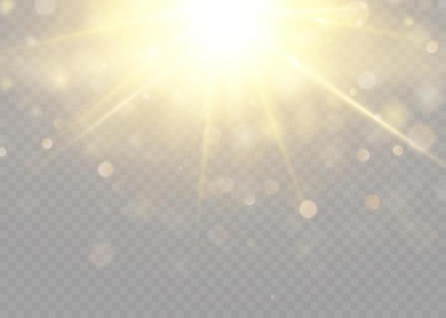 グローライト効果星のバーストと輝き太陽ベクトルイラスト