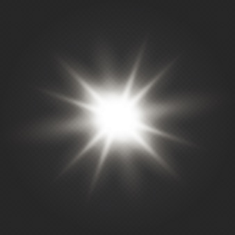 Glow light effect. star burst with sparkles. transparent shine gradient glitter, bright flare.