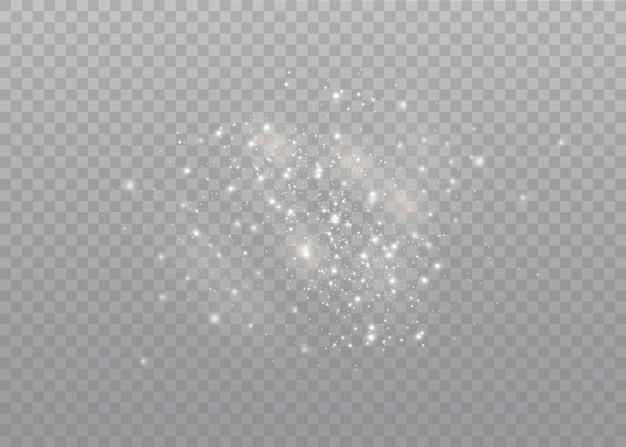 Эффект свечения. звезда вспыхнула блестками.
