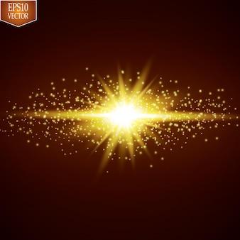 Эффект свечения. звездообразование с блестками