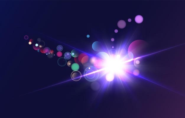 광선 조명 효과 벡터 10 eps