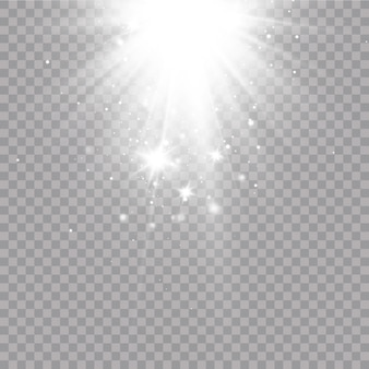Glow light effect. vector illustration. christmas flash. dust.falling snow . decoration.