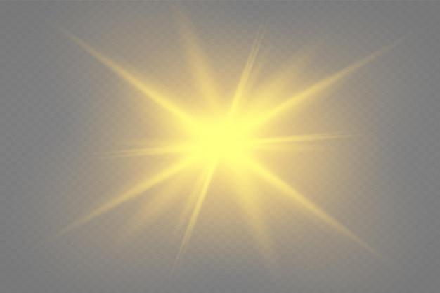 グローライト効果ベクトルイラストクリスマスフラッシュ透明な輝く太陽明るいフラッシュ