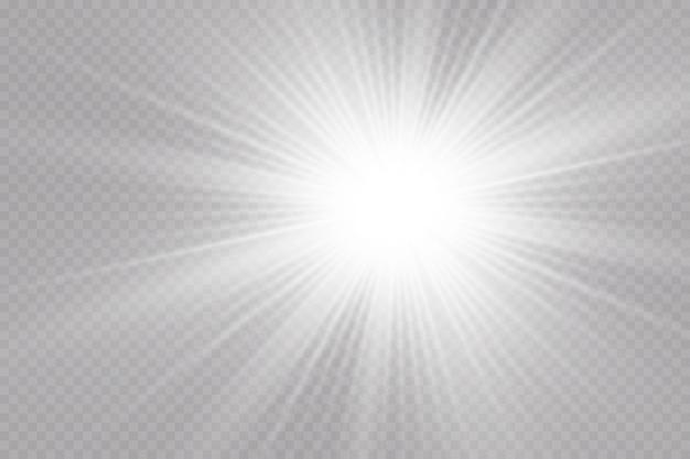 透明な背景へのグローライト効果