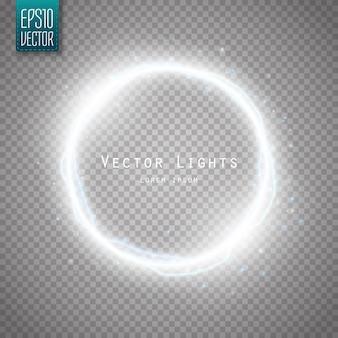 多くの光沢粒子と電気効果を備えたグローラウンドフレーム