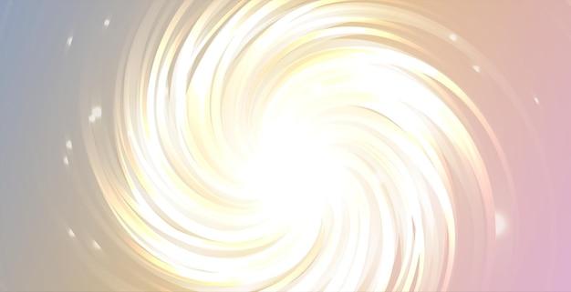 반짝임과 글로우 소용돌이 라인 효과