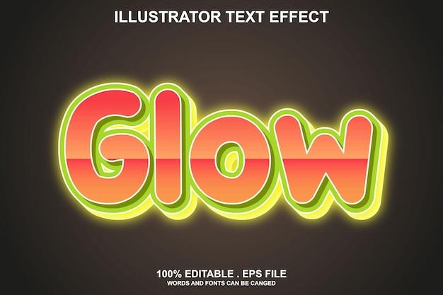 Светящийся текстовый эффект редактируемый