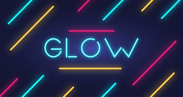 Glow text effect