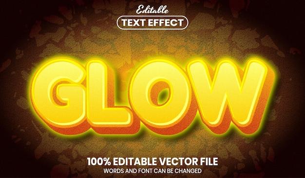 Светящийся текст, редактируемый текстовый эффект в стиле шрифта