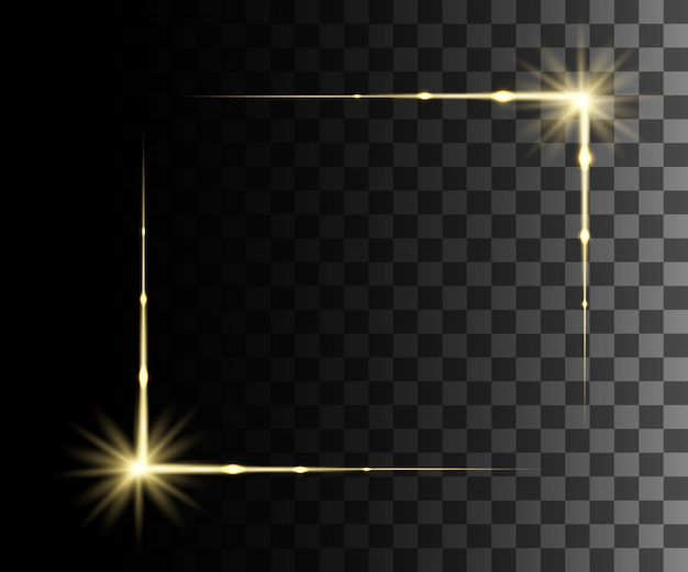 Glow  yellow transparent effect, lens flare, explosion, glitter, line, sun flash, spark and stars. for illustration template art ,  for christmas celebrate, magic flash energy ray