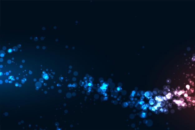 Glowing abstract digital particles technology background
