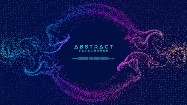Glowing abstract particle flow background.