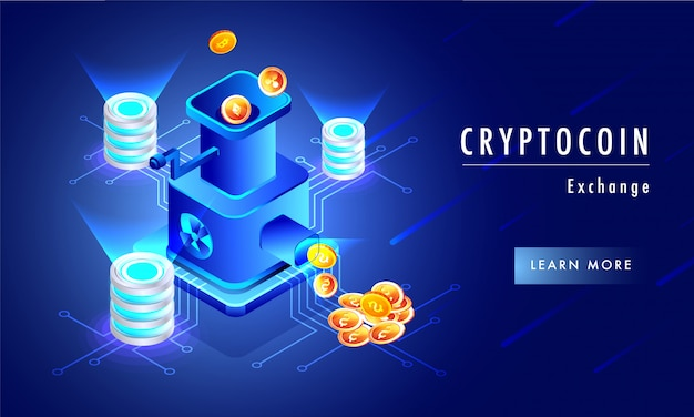 Glowing background with illustration of money exchange.