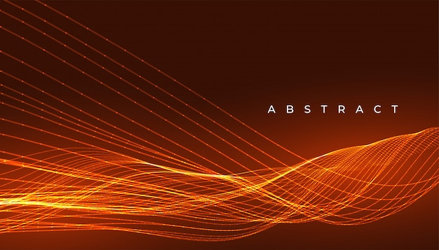 Glowing beautiful lines abstract wallpaper background design