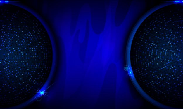Glowing blue circle on dark abstract background