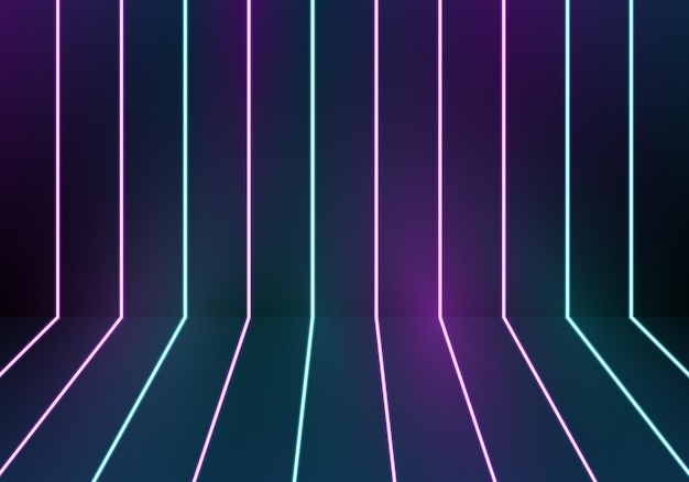 Glowing blue and purple neon lights background. vector illustration. abstract background.