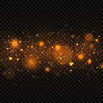 Эффект светящихся огней боке, изолированные на прозрачном фоне