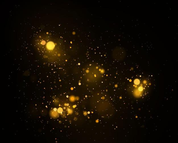Светящийся эффект огней боке изолирован.