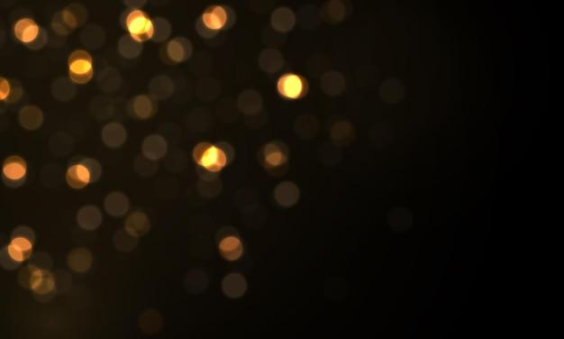 輝く星の太陽の粒子がレンズフレア効果で火花を散らす輝くボケライトクリスマスのほこり