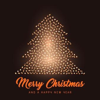 輝くクリスマスツリーの背景色