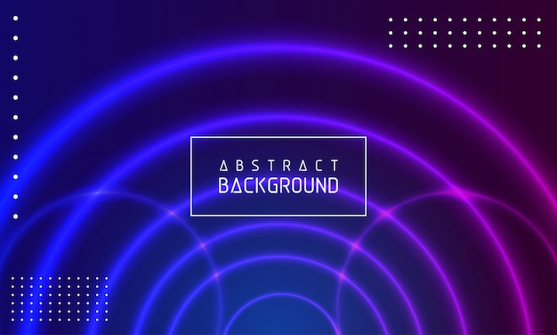 Glowing circle abstract modern background