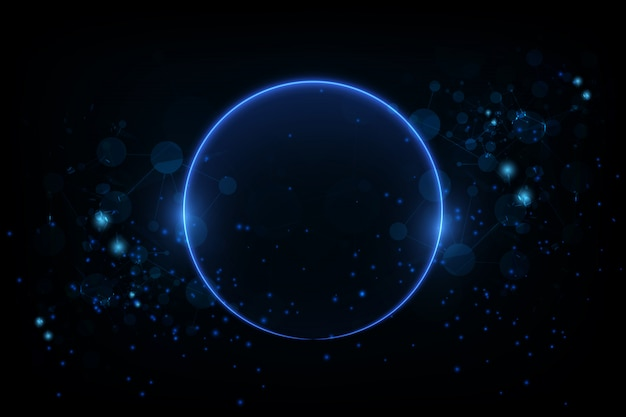Glowing circle background