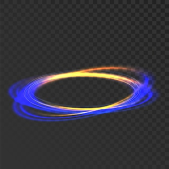 Glowing circle mystic shine frame effect