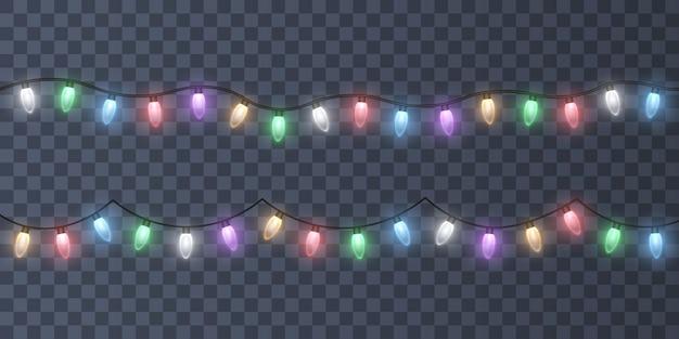 Светящиеся красочные рождественские гирлянды гирлянды рождественские огни