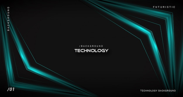 Glowing dark futuristic technology background