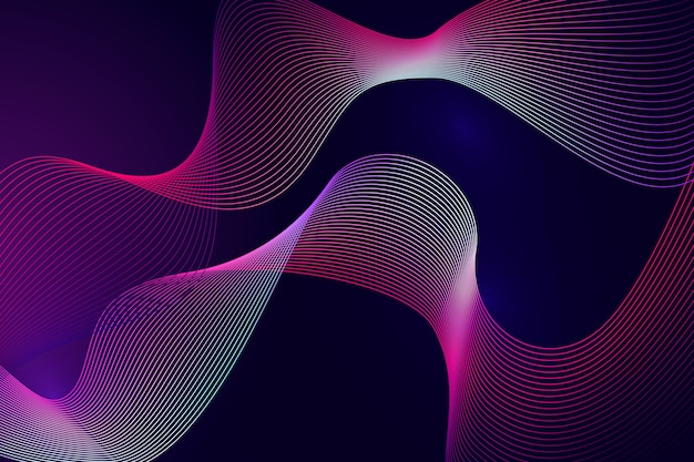 Glowing dark wavy background