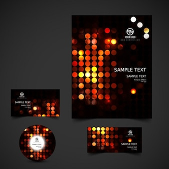 Glowing dots business stationery