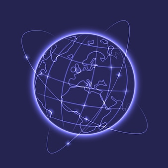 Glowing earth vector illustration