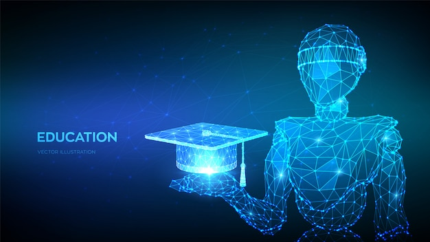 Glowing education background
