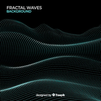 Glowing fractal grid wave background