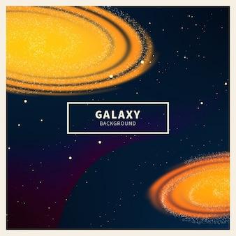 輝く銀河の背景