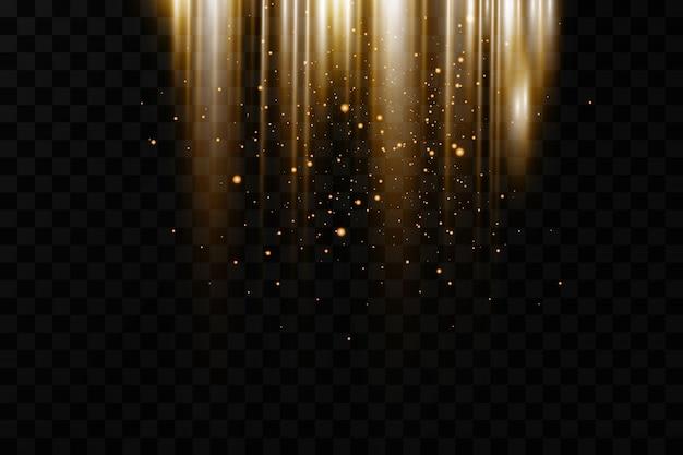 Glowing glitter light effects background