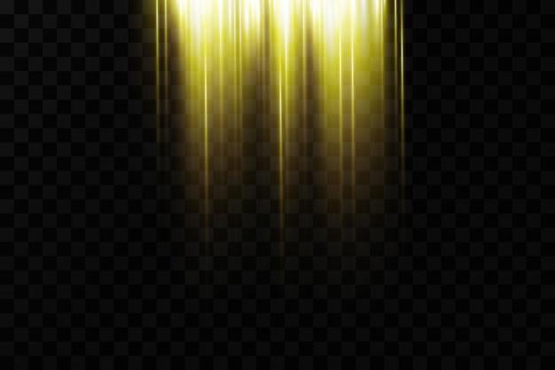 輝くキラキラ光の効果の背景