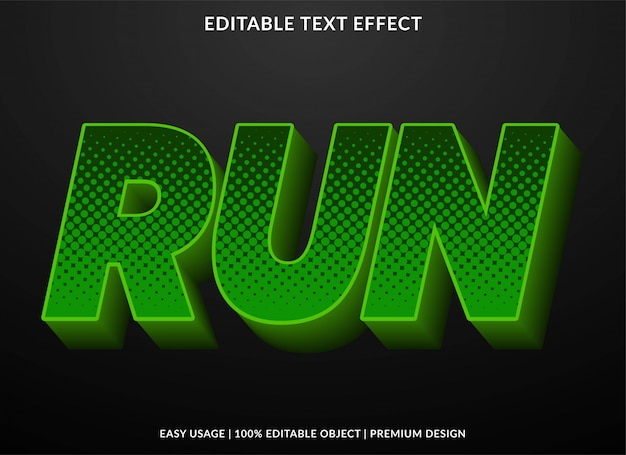Glowing green text effect