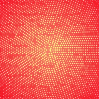 Glowing halftone background in red color