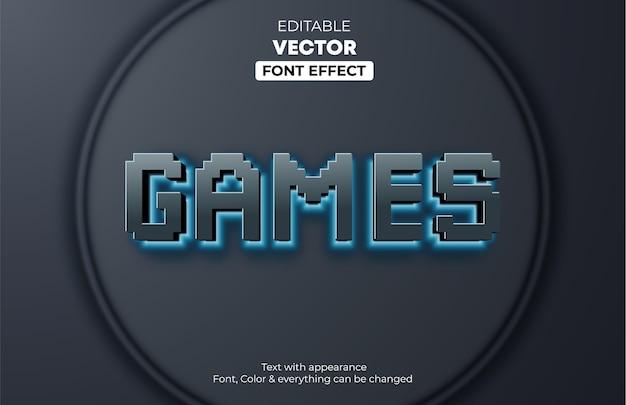 Светящиеся заголовки игр редактируемый текстовый эффект